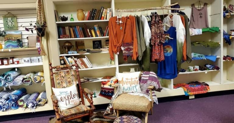 Clothing and home decor items at SoBoHo