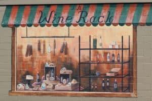 Mural of the original Wine Rack building