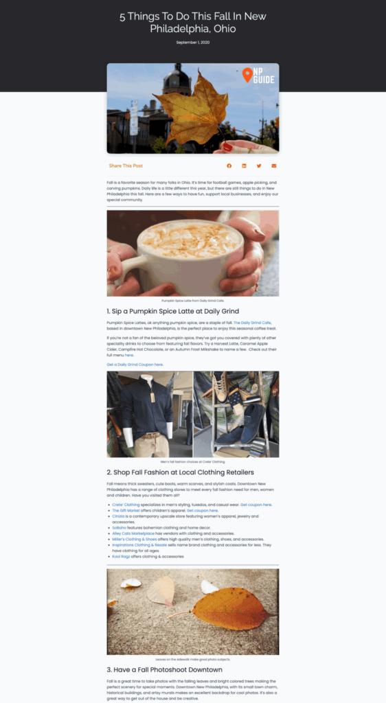 Blog Post Screenshot